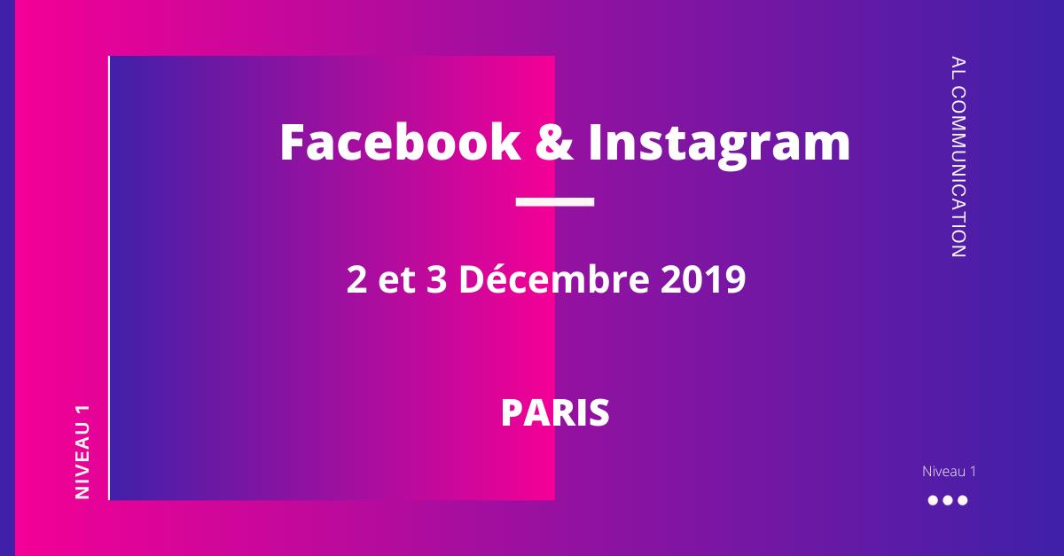 Formation Facebook & instagram esthétique 2 et 3 décembre 2019